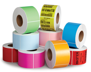 floodcoated color labels