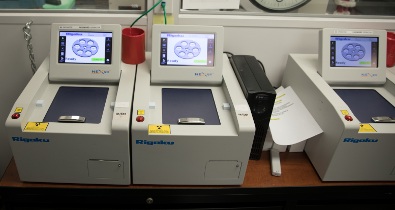 Machines used for testing.